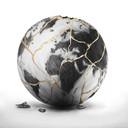 """""""Global Resilience"""" s'inspire de la technique japonaise du kintsugi, la """"réparation par l'or""""."""