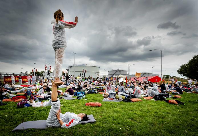 Protest tegen de gaswinning in Groningen.