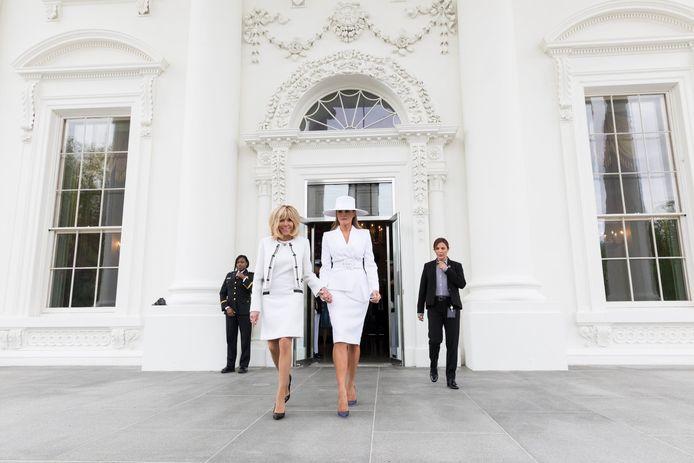 Het Franse presidentskoppel Emmanuel en Brigitte Macron waren deze week in Washington voor een driedaags staatsbezoek met de Trumps.