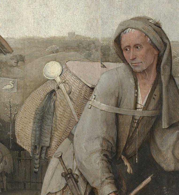 Hiëronymus Bosch, De marskramer (detail), c.1500. Beeld Boijmans van Beuningen