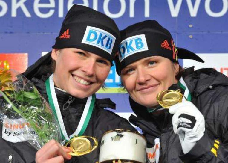 Sandra Kiriasis (rechts) en Berit Wiacker (links) Beeld UNKNOWN