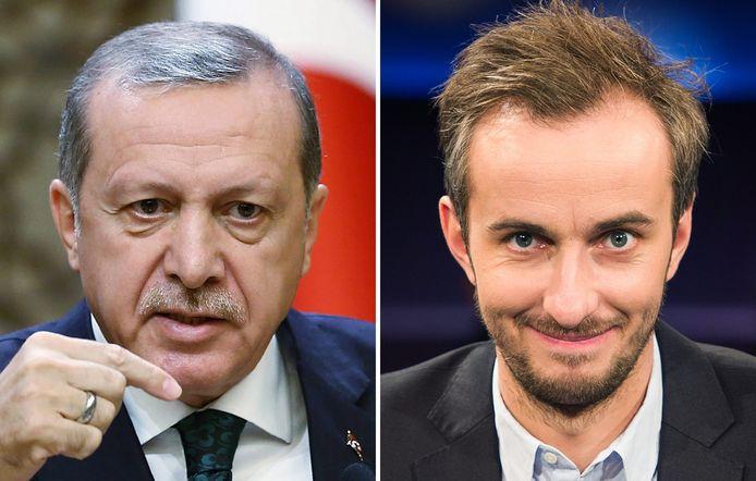 De Turkse president Erdogan, die in een satirisch gedicht door de tv-komiek Jan Böhmermann een geitenneuker en pedofiel werd genoemd.