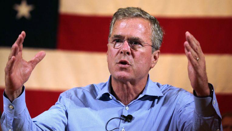 Jeb Bush heeft van alle Republikeinse kandidaten het meeste geld ingezameld. Op Donald Trump na dan, die gewoon zijn eigen geld meebrengt. Beeld AP
