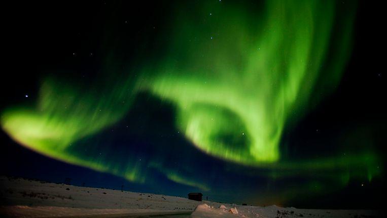 Het Noorderlicht boven het Noorse Finnmark. Beeld REUTERS