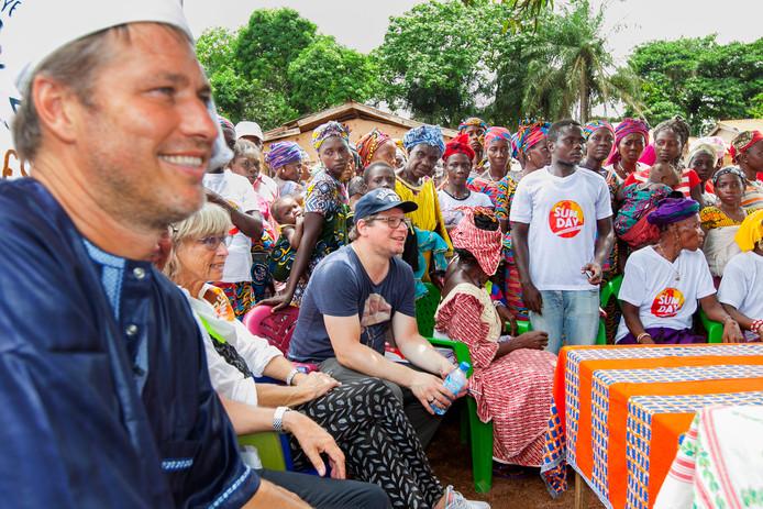 Sander de Kramer en Jochem Davidse in Sierra Leone