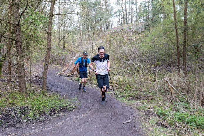 Eric Engelen, met de lach op het gezicht, bezig aan zijn 32ste beklimming.