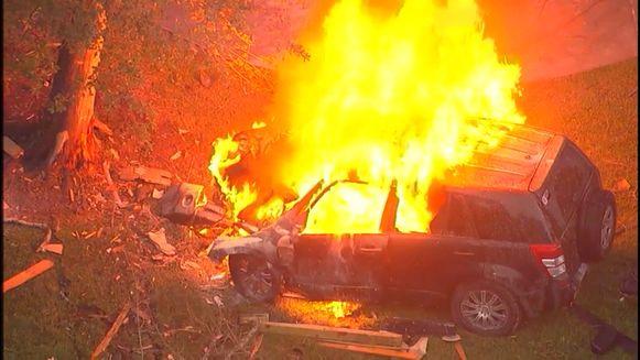 Wagen gaat in vlammen op na joyride