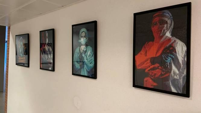 Patiënte AZ Turnhout brengt kunstig eerbetoon aan alle ziekenhuismedewerkers