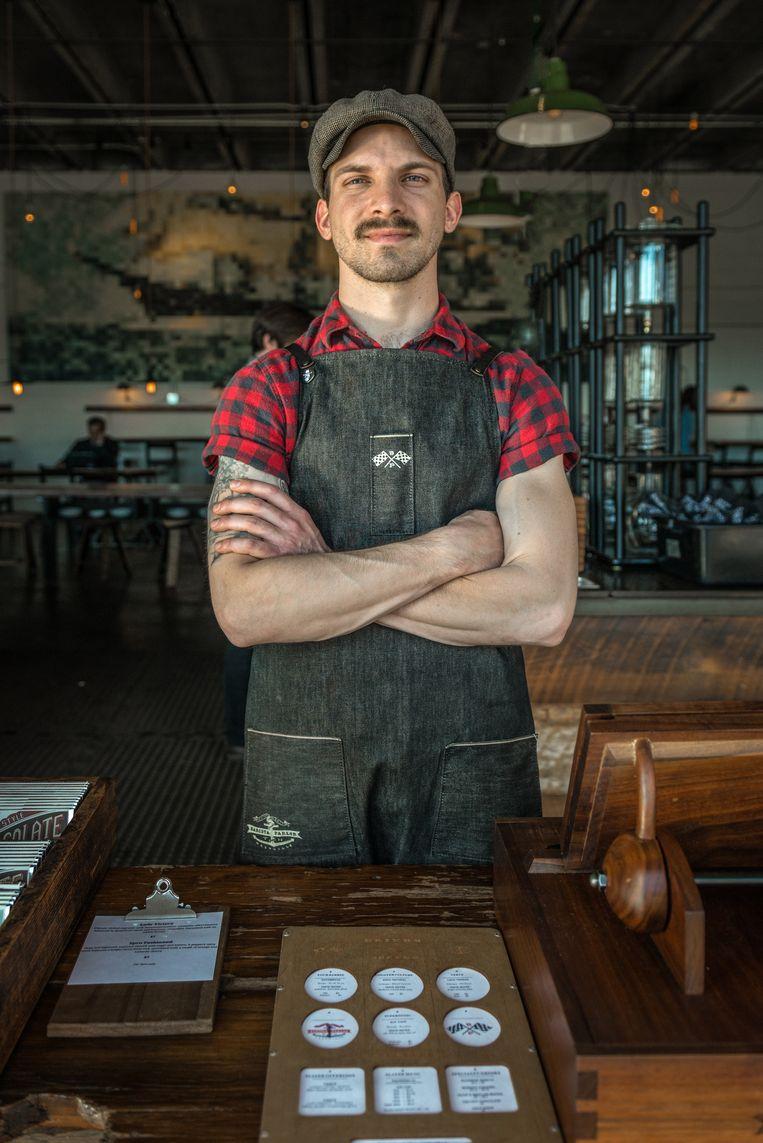 Alle barista's zijn knap bij Barista Parlor Beeld Jurriaan Teulings