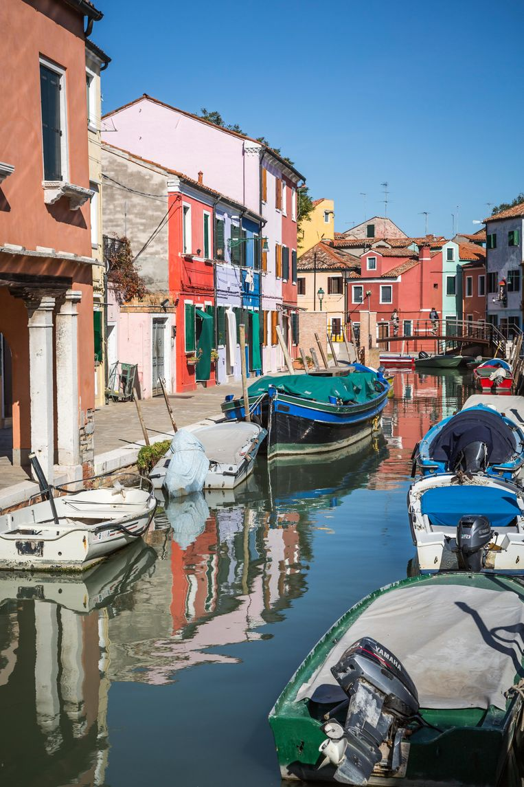 Burano is, net als dat andere Venetiaanse eilandje Murano, een Instagram-walhalla. Beeld rv