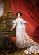 Een schilderij van prinses Marianne door J.B. van der Hulst in 1834.