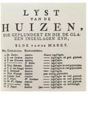 De in 1787 geplunderde huizen in Den Bosch.
