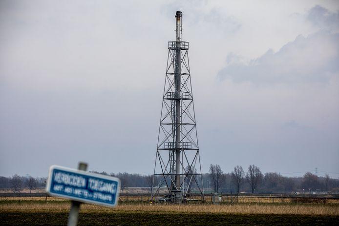 Gaswinningslocatie van de NAM in Muntendam.