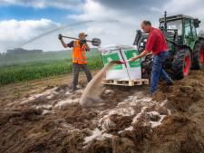 200 kilometer berm in regio afvalvrij gemaakt om boerenland met 'Japans spul' te bemesten