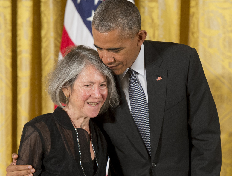 Louise Glück en Barrack Obama Beeld Belga