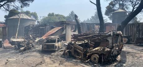 Bosbranden Griekenland: niet alleen de hitte, maar ook de stank is ondraaglijk