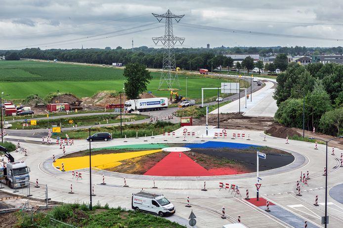 Werk aan de Bromtol, foto van juli 2021.