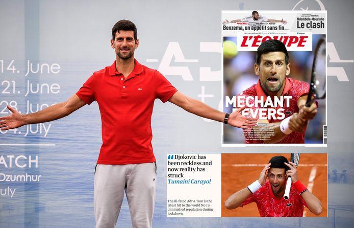 De internationale pers is messcherp voor Djokovic.