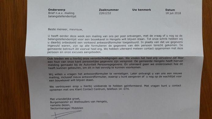 Hengelo stuurde persoonsgegevens van één man naar 878 vreemden.