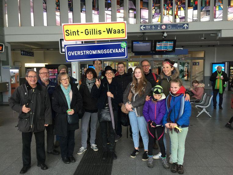 Ook Sint-Gillis-Waas trok met een delegatie naar de grote klimaatbetoging in Brussel