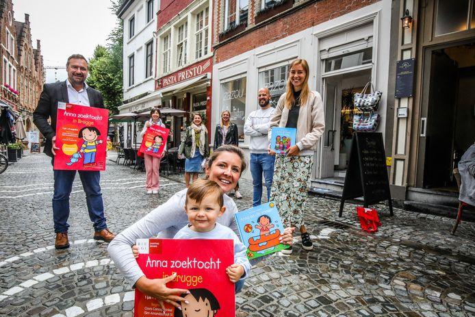 De nieuwe kinderzoektocht trekt onder meer door de Sint-Amandsstraat in Brugge.