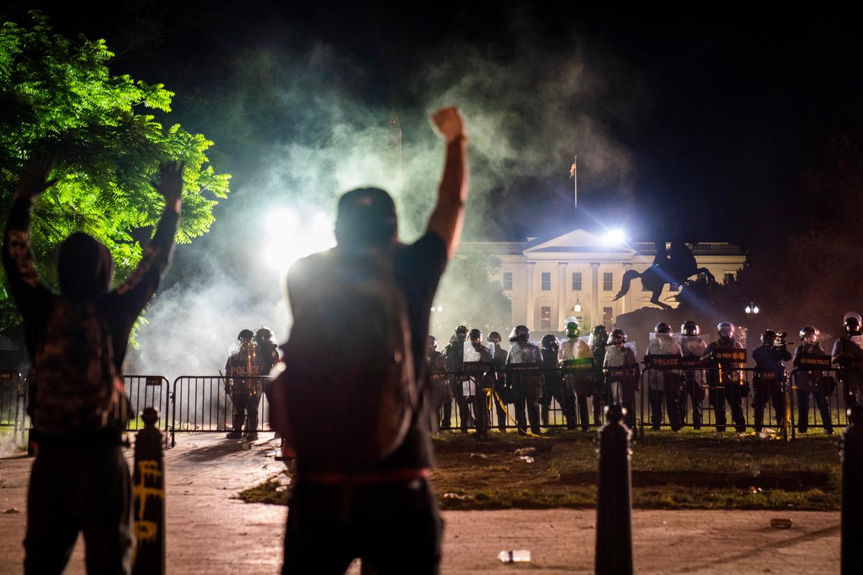 Protestanten voor het Witte Huis. Beeld EPA