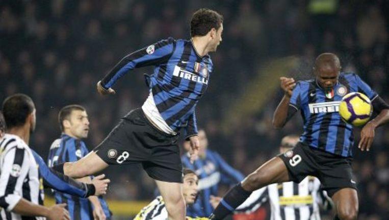 Samuel Eo'o (rechts) van Inter Milan tijdens de wedstrijd tege Juventus. Foto ANP Beeld