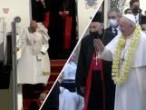 Paus Franciscus aangekomen in Irak voor historisch bezoek