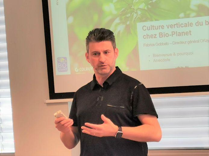 Algemeen directeur Fabrice Gobbato van Bio-Planet.