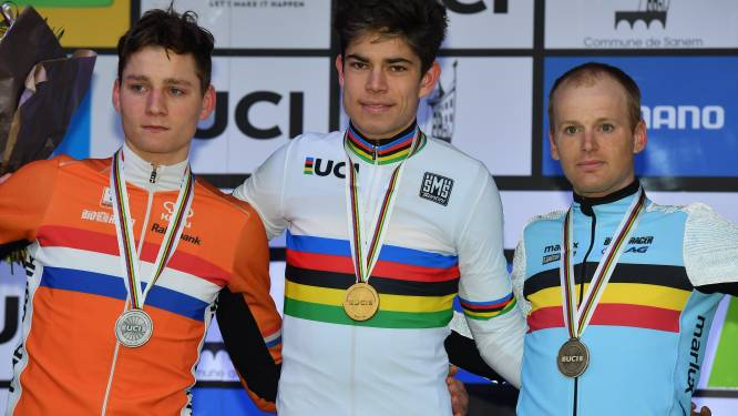 Wout van Aert volgt zichzelf op als wereldkampioen, vier (!) lekke banden geven Van der Poel de doodsteek