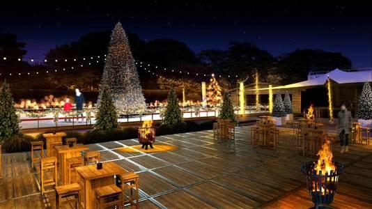 Open vuurtjes en kerstbomen moeten voor een gezellige sfeer zorgen.