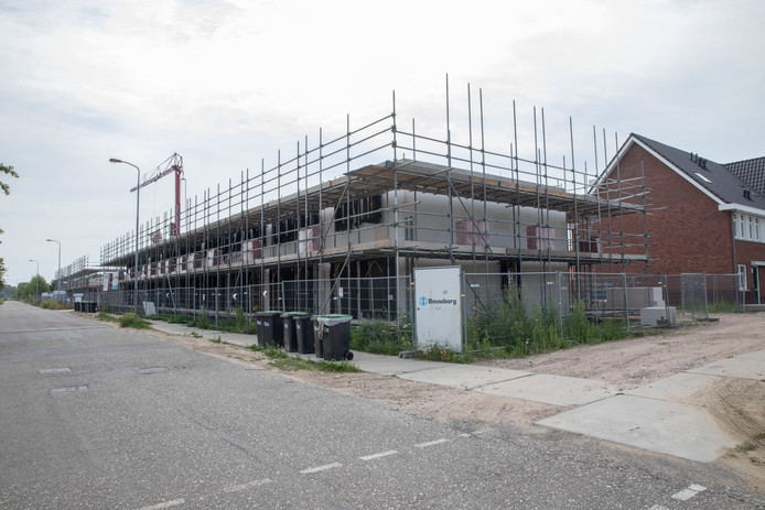 Nieuwbouw in plan Berckelbos langs de tennisbanen aan de Partituurlaan in Eindhoven