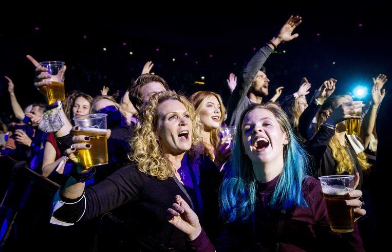 In de Ziggo Dome werd afgelopen weekend een proef gedaan met een concert. Beeld ANP