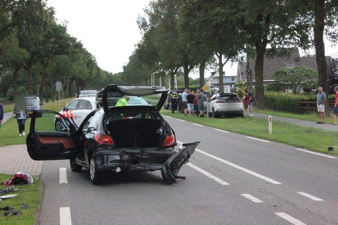 Bij het ongeval waren 4 auto's betrokken, één persoon raakte gewond.