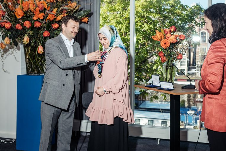 Mevlit Yilmaz (links) en Fatma Lapcin-Yilmaz. Beeld Jakob van Vliet