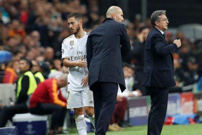 """Zidane over Eden Hazard: """"Tevreden over zijn prestaties, maar hij moet meer scoren"""""""
