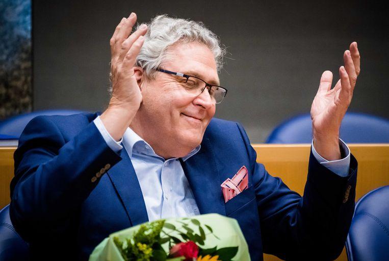 Henk Krol tijdens het afscheid van de oude Kamerleden. Beeld ANP