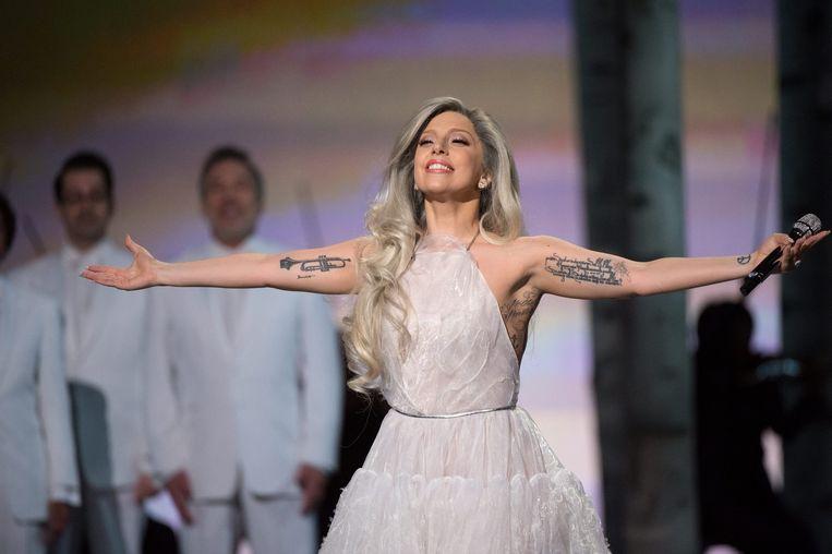 Lady Gaga bij de Oscars. Beeld EPA