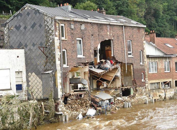 Inondations à Pepinster.