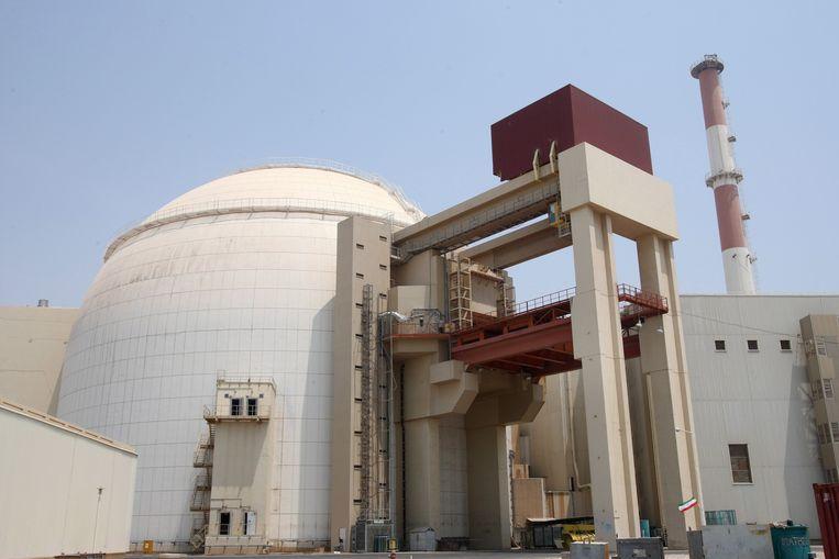 De kerncentrale in Bushehr, Iran, waar vrijdagochtend een aardbeving plaatsvond.