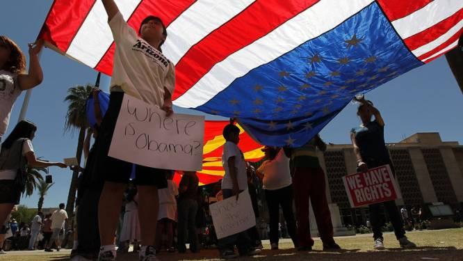 Betoging tegen nieuwe immigratiewet in Arizona