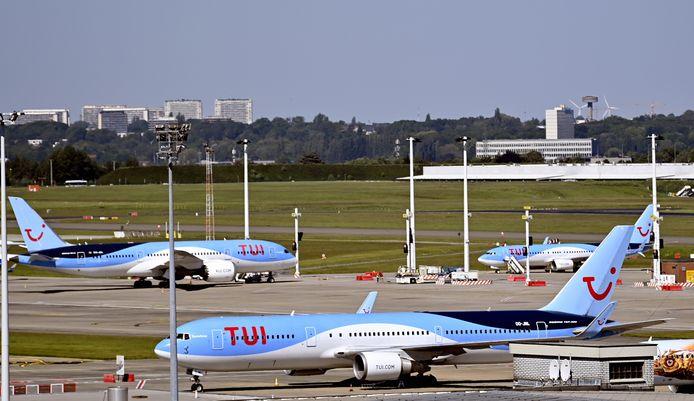 Des avions sur le tarmac de Brussels Airport.