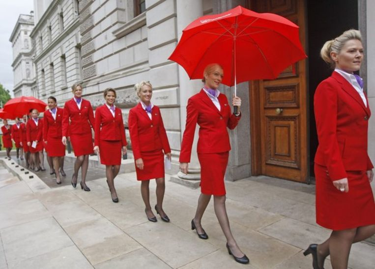 Stewardessen van Virgin Atlantic. Beeld Reuters