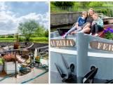 """Lies (42) bouwde een oud vrachtschip om tot een modern drijvend huis: """"Alsof we op eiland wonen"""""""