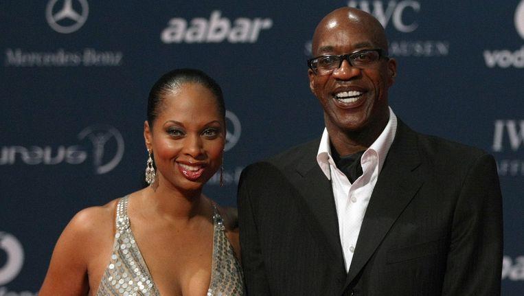 Edwin Moses met zijn vrouw Beeld AFP