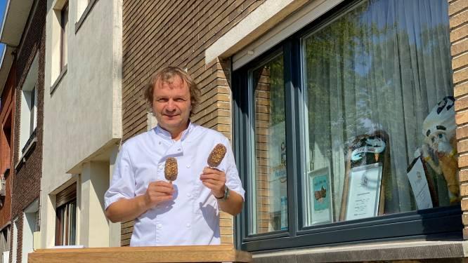 """Gepensioneerde Eddy (62) verkoopt zelfgemaakt, ambachtelijk ijs van thuis uit: """"Ik zet met plezier mijn tuintje open"""""""