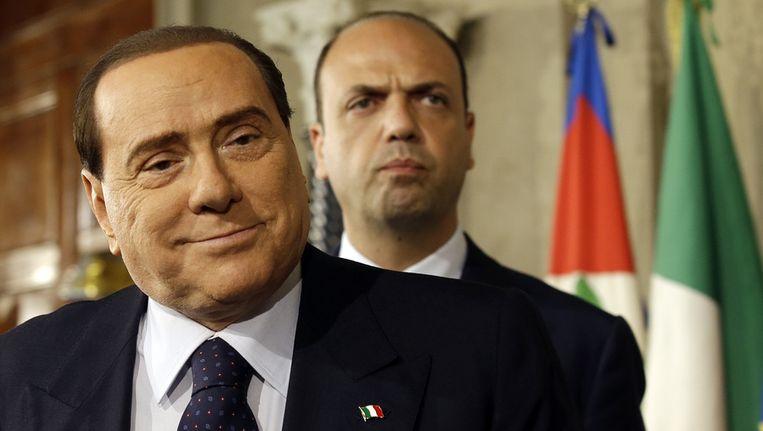Berlusconi en Angelino Alfano Beeld ap