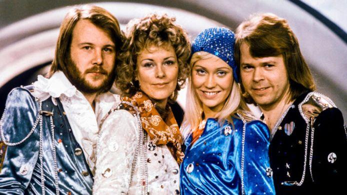 Van links naar rechts: Benny Anderson, Anni-Frid Lyngstad, Agnetha Fältskog en Björn Ulvaeus.