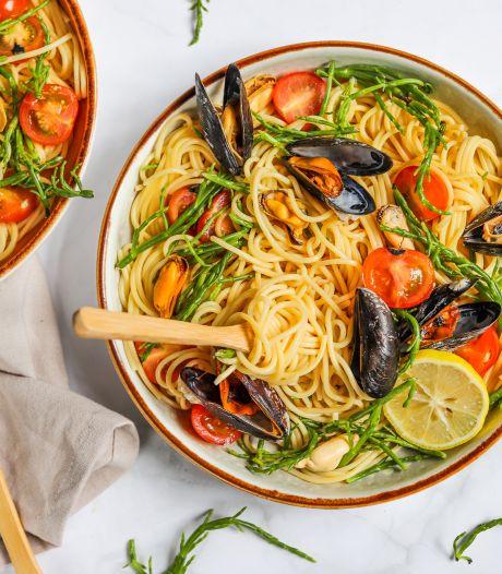 Wat Eten We Vandaag: Spaghetti met zeekraal en mosselen