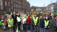 Leerlingen houden 'fietsklimaatkaravaan' voor een betere toekomst
